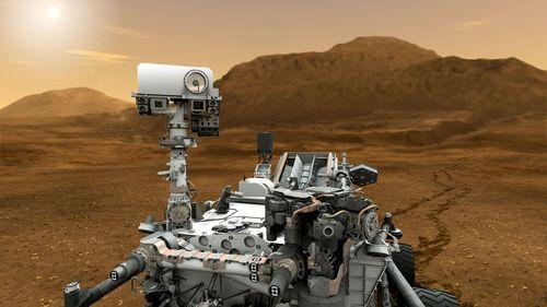 Mars Rover Curiosity sucht nach Wasser und Leben auf dem Mars