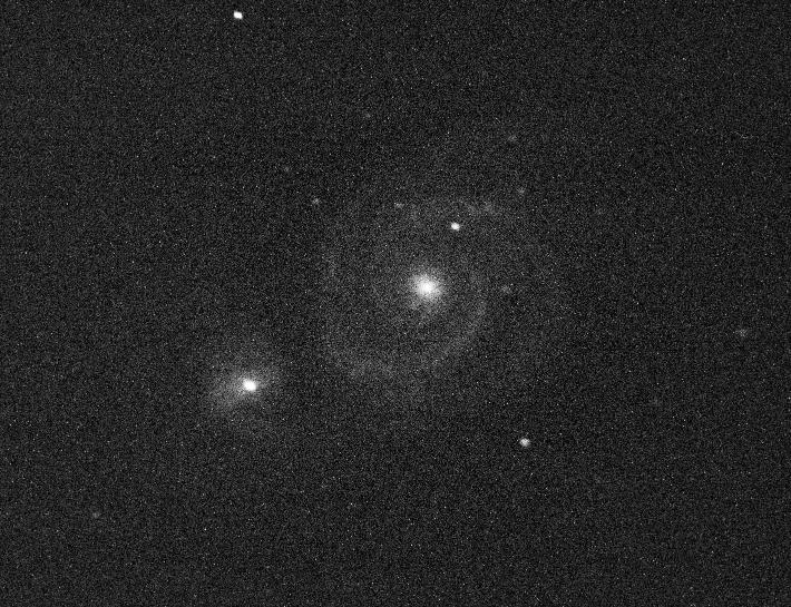 M51 am 7.4.2013 aufgenommen in Santa Luce (Italien) mit EOS 500D, @iso3200, 30 Sekunden, C8 mit f/6.