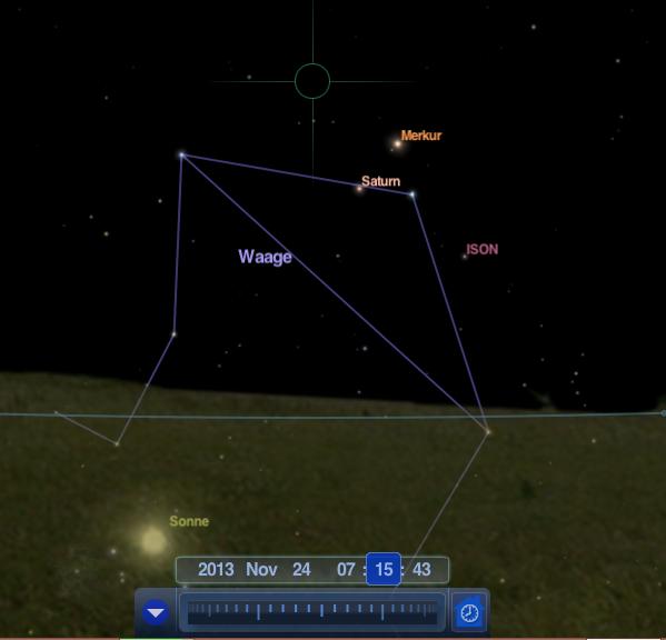 Komet ISON am Morgenhimmel (26.11.)