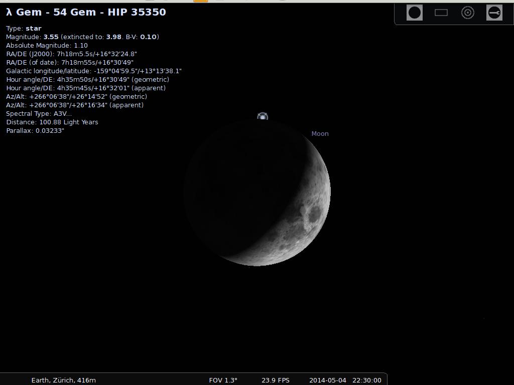 Mond bedeckt Lambda Gem